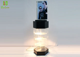 Sunglasses Acrylic POS Display Stand , Acrylic Display Case With LED System