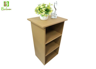 Eco - Friendly Cardboard Display Furniture , Corrugated Office Shelf Cabinet