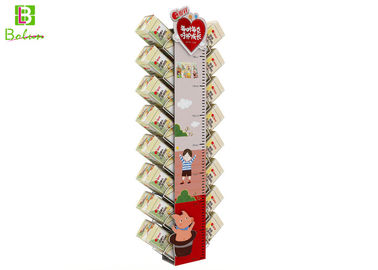 Countertop Cardboard POS Display Stand With Height Measuring Gauge
