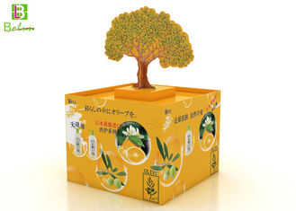 Innovative Corrugated Cardboard POS Display Boxes Movable Tree Light Weight