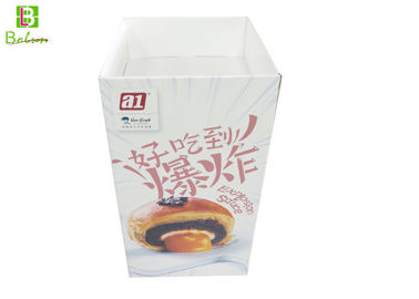 Supermarketing Cardboard POS Display , Dessert Corrugated Cardboard Display Boxes