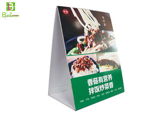 Promational Acrylic Menu Display Stands Restaurant  , Acrylic Counter Display Stands