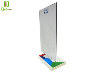 Store White Acrylic Product Display Stands Mirror Silk - Screen Logo
