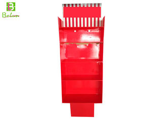 Red Retail Store Display Fixtures  , Custom Cardboard Display Stands Upsidedown Structure