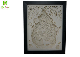 China Layered Visual Display Props Forest Whispers Illuminated Paper Sculptures Art supplier