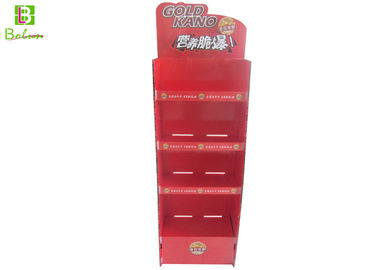 4 Tiers Cardboard Counter Display , Promotional Cardboard Display Shelves