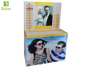 Printed  Sunglasses Cardboard Display Stands Cylindrical Pile Head