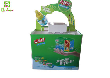 China Large Point Of Purchase Display Racks , Green Custom Counter Display Boxes supplier