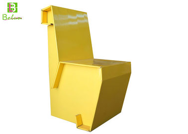 Yellow Eco Chair Foldable Cardboard Furniture Finish Lamination