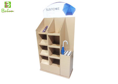 Umbrella Point Of Sales Cardboard Display Stand , 4 Tier Cardboard Display Fixtures